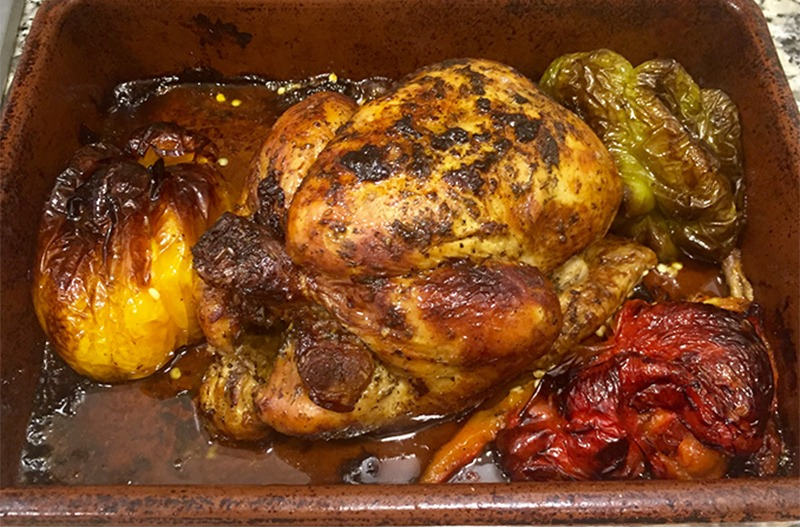 pollo horno - Pollo asado al horno especiado envasado al vacio