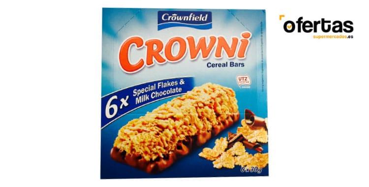 barritas cereales crowni lidl - Barritas de cereales con base de chocolate