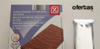 Galleta bañada en chocolate con leche