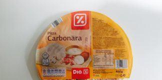 Pizza Carbonara del supermercado DIA