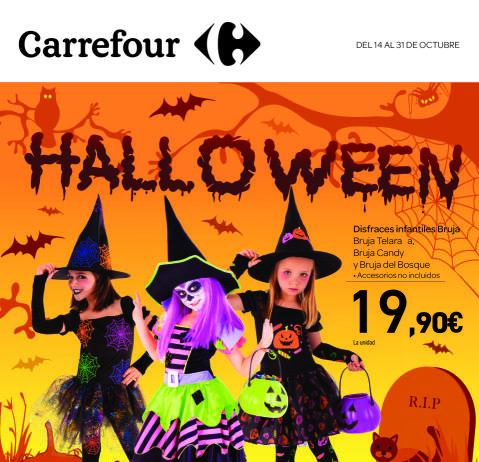 disfraces de halloween en carrefour