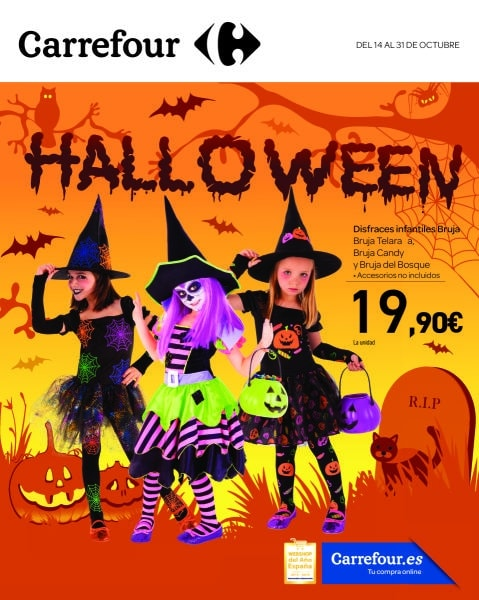 Folleto carrefour halloween disfraces para ni os y adultos - Halloween hipercor ...