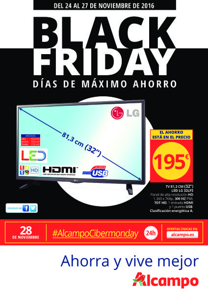 Black friday en alcampo del 24 al 27 noviembre 2016 for Conforama black friday