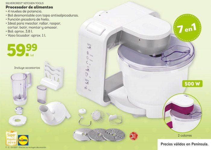 Procesador de alimentos silvercrest de lidl robot de cocina for Que es un procesador de alimentos
