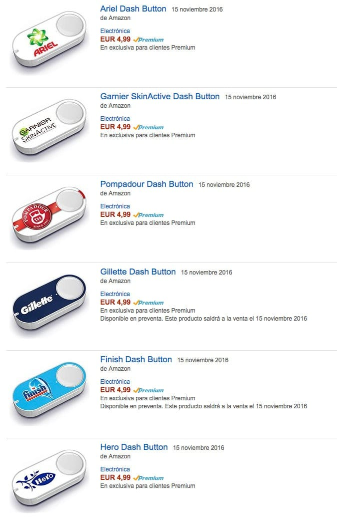 tipos amazon dash buttons - ¿Qué es Amazon Dash Button?