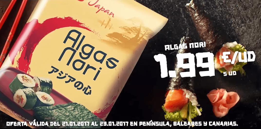 alga nori vitasia lidl - Semana Asiática en Lidl, vuelve los productos Vitasia
