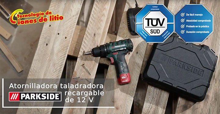 Atornilladora Taladradora de Lidl de la marca PARKSIDE - Taladro atornillador de percusión de Lidl de la marca PARKSIDE