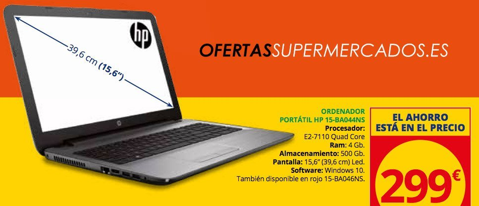 ORDENADOR PORTÁTIL HP 15-BA044NS