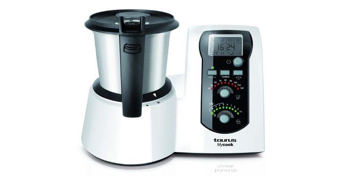 Taurus-Mycook---Robot-de-cocina,-1600-W,-capacidad-de-2-l