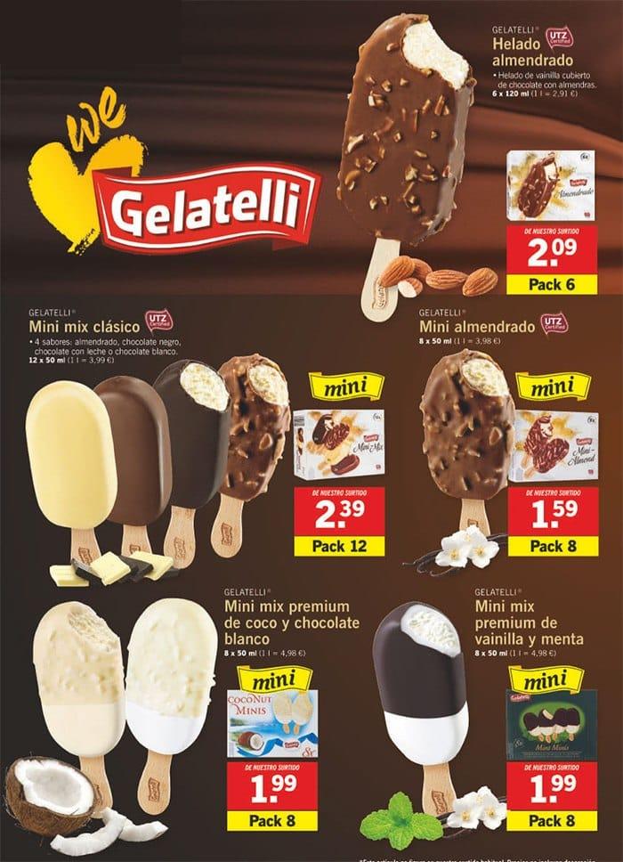 helados lidl clasicos - Helados Gelatelli de Lidl