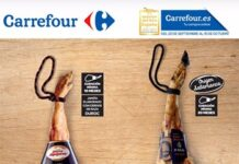 Jamones ibéricos Carrefour