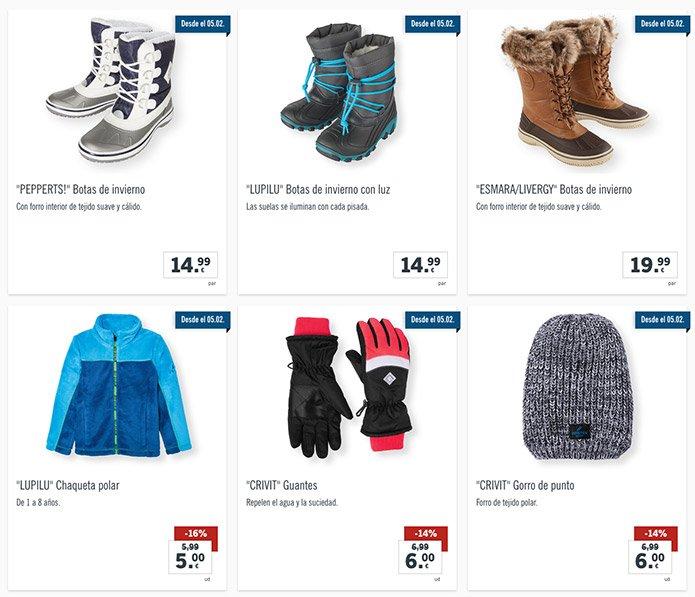 botas nieve lidl - Catálogo LIDL del 1 al 7 Febrero