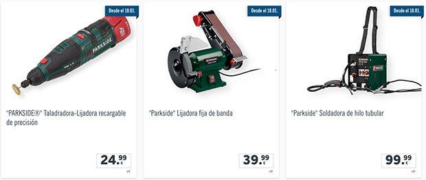 herramientas parkside - Catálogo LIDL del 18 al 24 Enero
