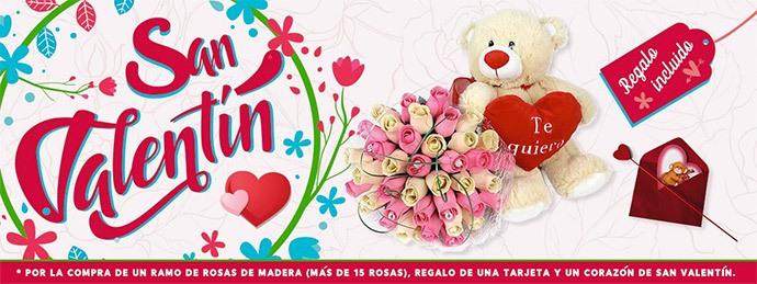 ramos rosas - Carrefour San Valentín
