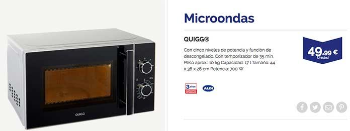 Microondas barato ALDI