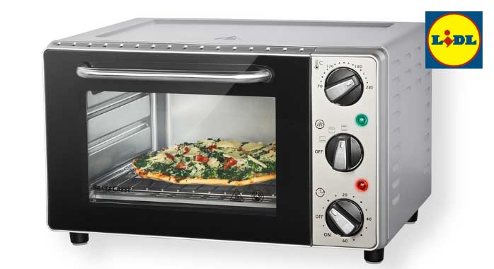 Minihorno silvercrest de lidl for Horno electrico dimensiones