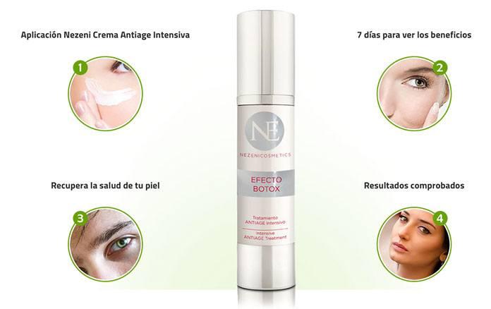Nezeni Cosmetics Crema antiarrugas eficaz