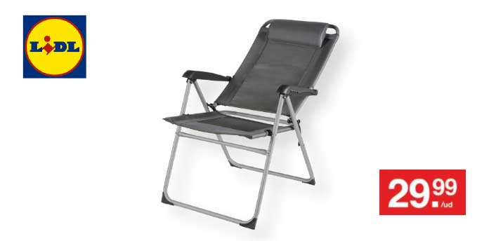 Silla De Camping Regulable De Lidl