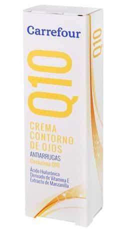 Contorno de ojos Q10 Antiarrugas con acido Hialuronico Carrefour - Los mejores contornos de ojos
