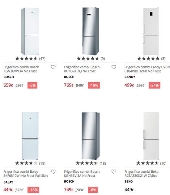 frigorificos el corte ingles - Los mejores frigoríficos