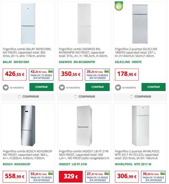 modelos frigorificos alcampo - Los mejores frigoríficos