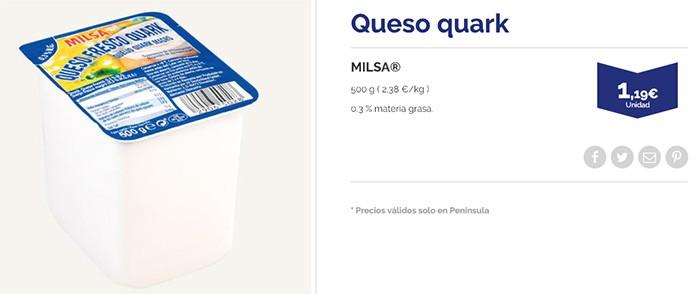Queso Quark Aldi precio