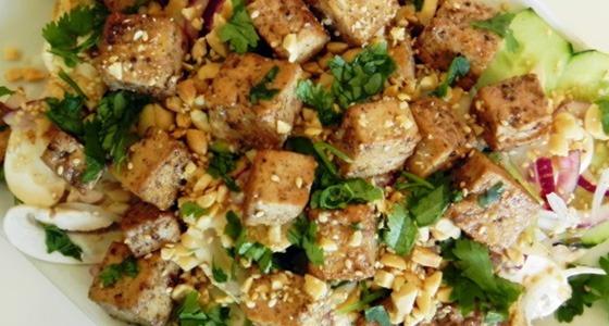 ensalada-tofu-champinones