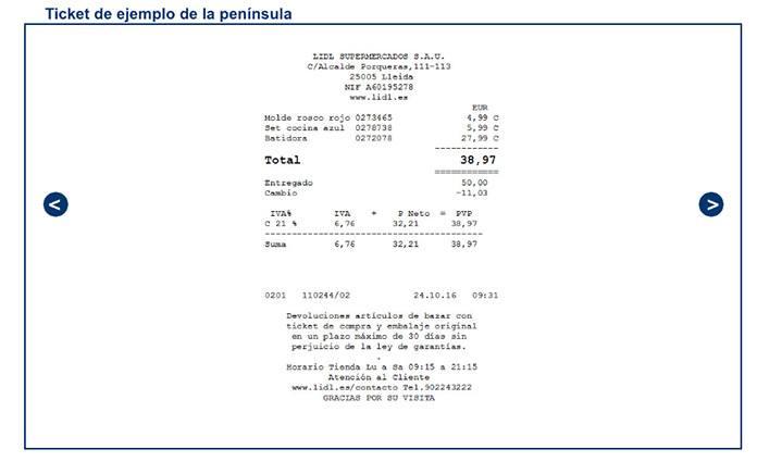 factura ejemplo lidl - Facturas Lidl