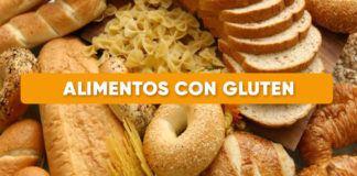 listado alimentos con gluten