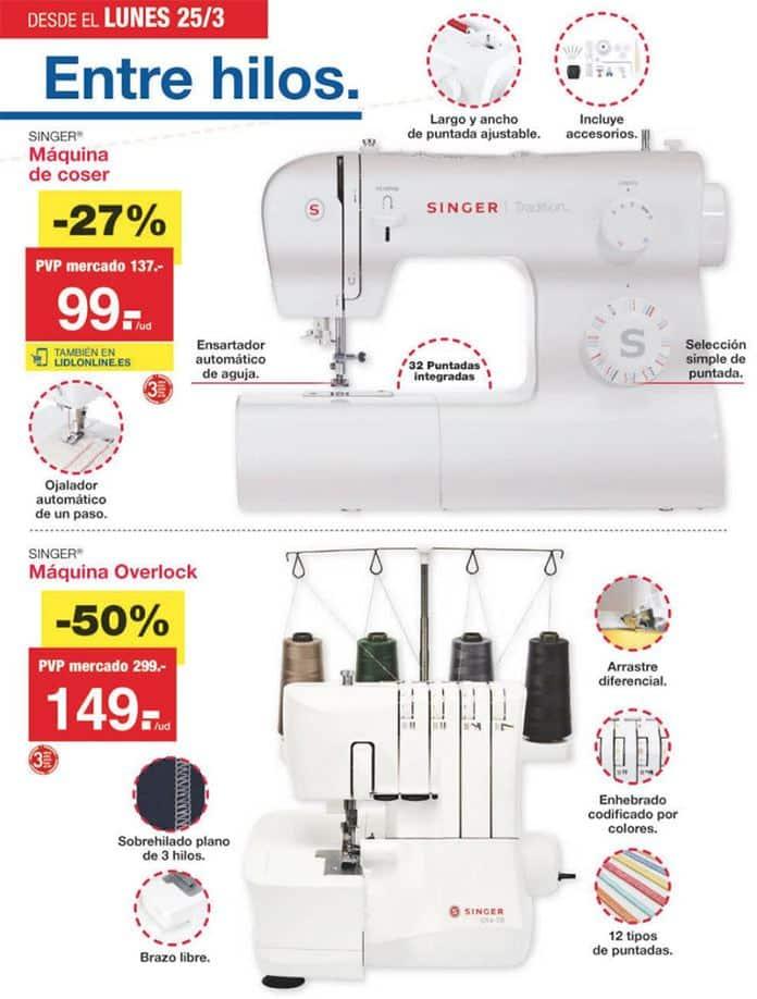 maquina coser overlock singer - Catálogo LIDL del 21 al 28 Marzo