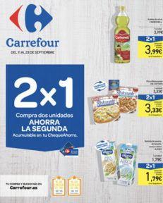Catálogo CARREFOUR 2×1 del 11 al 23 septiembre