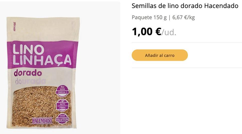 semilla lino dorado - Semillas de lino Mercadona