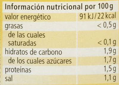 valor nutricional chucrut - Chucrut Mercadona