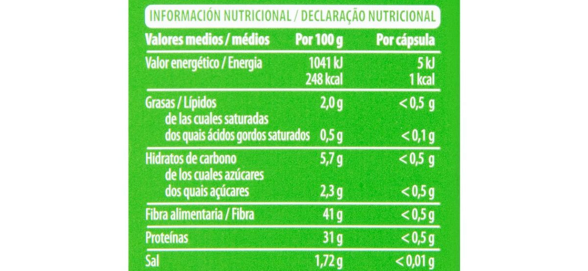valor nutricional capsulas alcachofas - Cápsulas de Alcachofa Mercadona