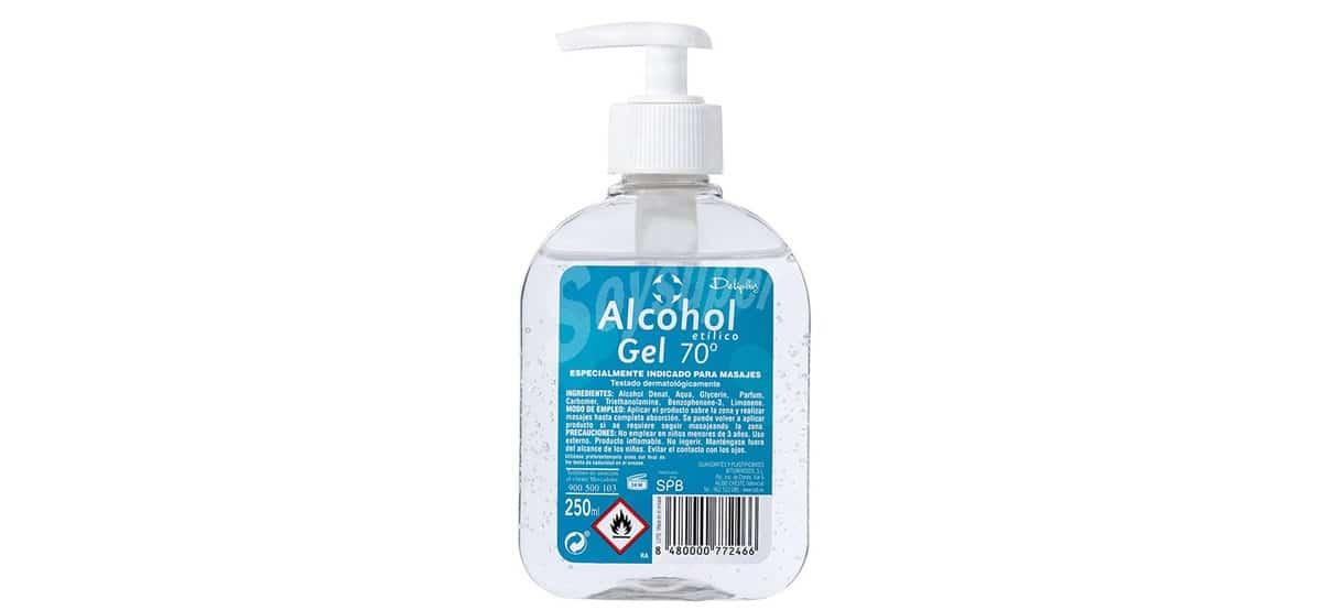 alcohol gel etilico deliplus mercadona