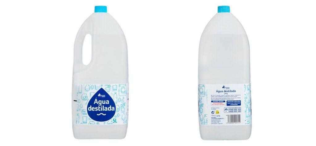 agua destilada mercadona