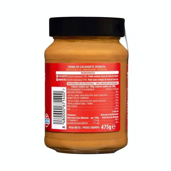ingredientes crema cacahuete - Crema de cacahuete de Mercadona