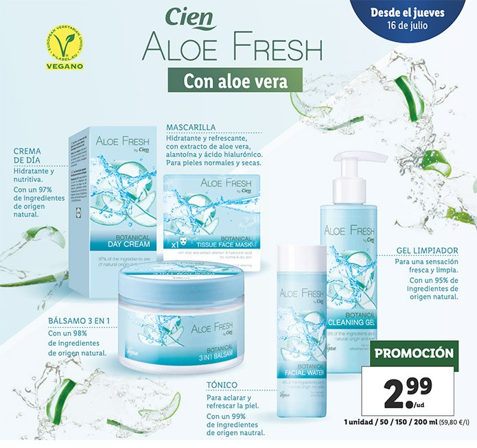 cien aloe fresh lidl - Aloe Fresh de LIDL