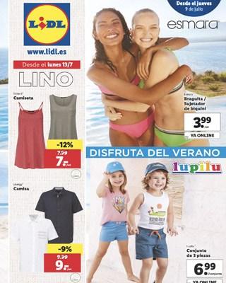 lino folleto julio lidl - Catálogo LIDL del 9 al 15 julio