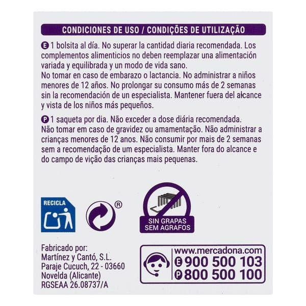 condiciones de uso - Infusión Figura Hacendado de Mercadona