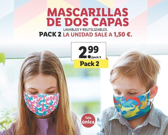 mascarillas infantiles - Folleto artículos LIDL del 3 al 9 septiembre