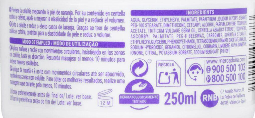 modo empleo ingredientes 1024x473 - Crema anticelulítica Mercadona