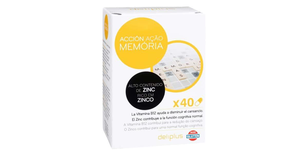 Capsulas accion memoria Deliplus alto contenido en zinc