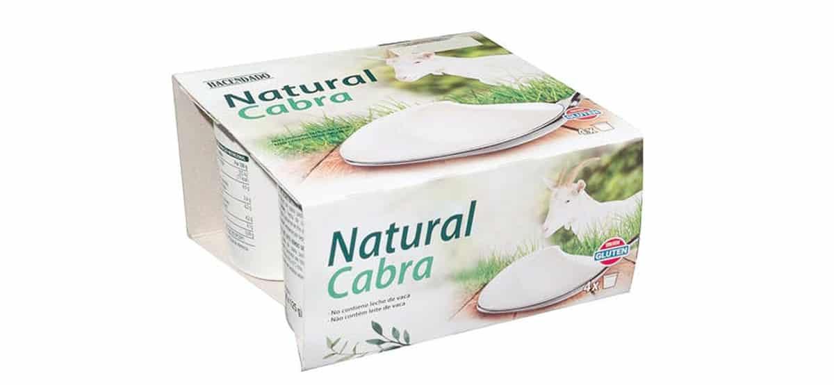 yogurt natural de cabra Hacendado MERCADONA