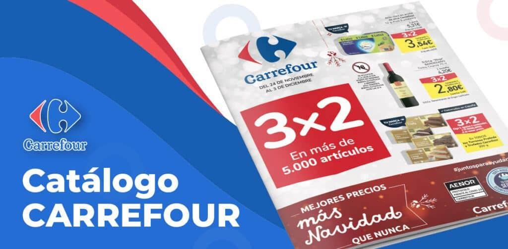 folleto carrefour diciembre 3x2 1 1024x503 - Catálogo Carrefour 3x2 del 24 al 3 de diciembre
