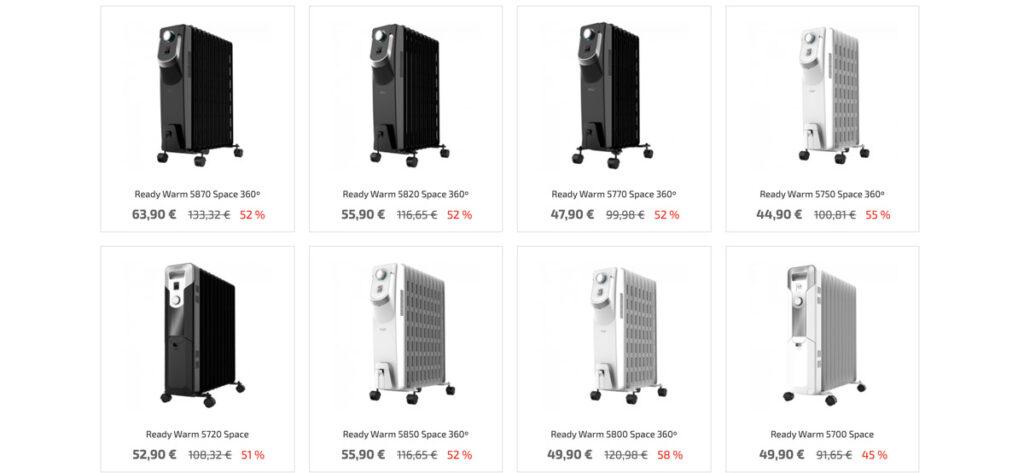 radiadores aceite cecotec 1024x473 - Radiador de aceite DeLonghi en Lidl