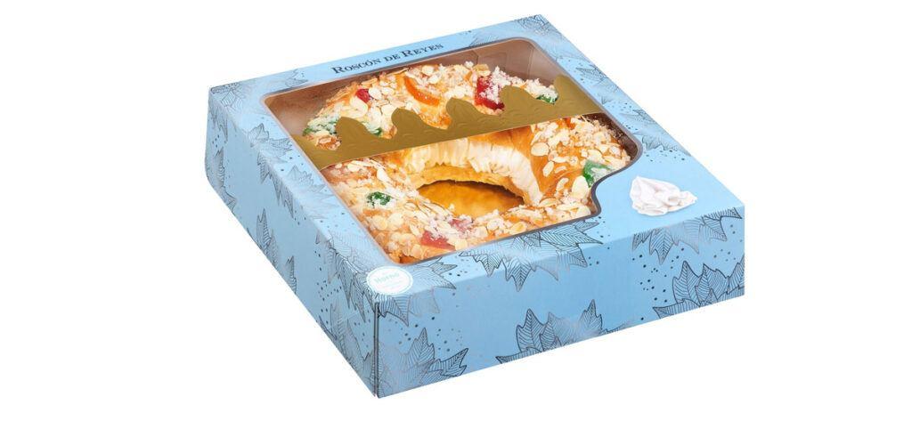Roscon de Reyes relleno de preparado a base de nata congelado 1024x473 - Roscón de Reyes en Mercadona
