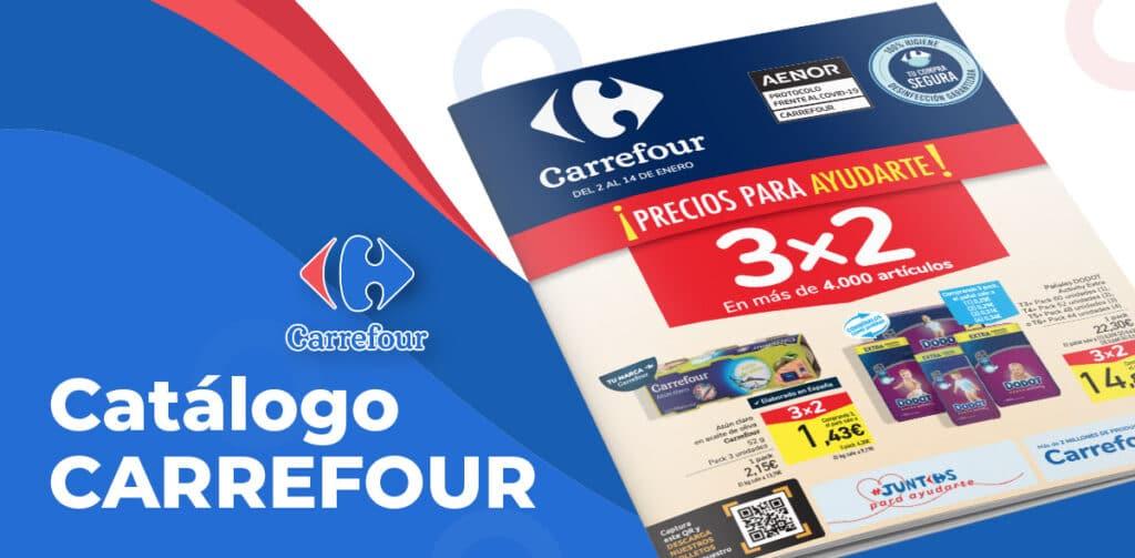 carrefour enero 2021 1024x503 - Catálogo 3x2 Carrefour del 2 al 14 enero
