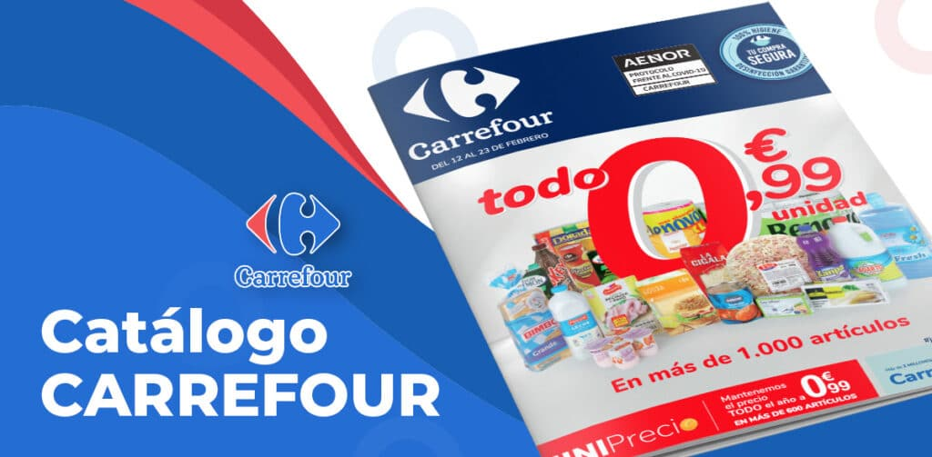 catalogo carrefour 12 febrero 1024x503 - Catálogo Carrefour todo a 0,99€ del 12 al 23 febrero