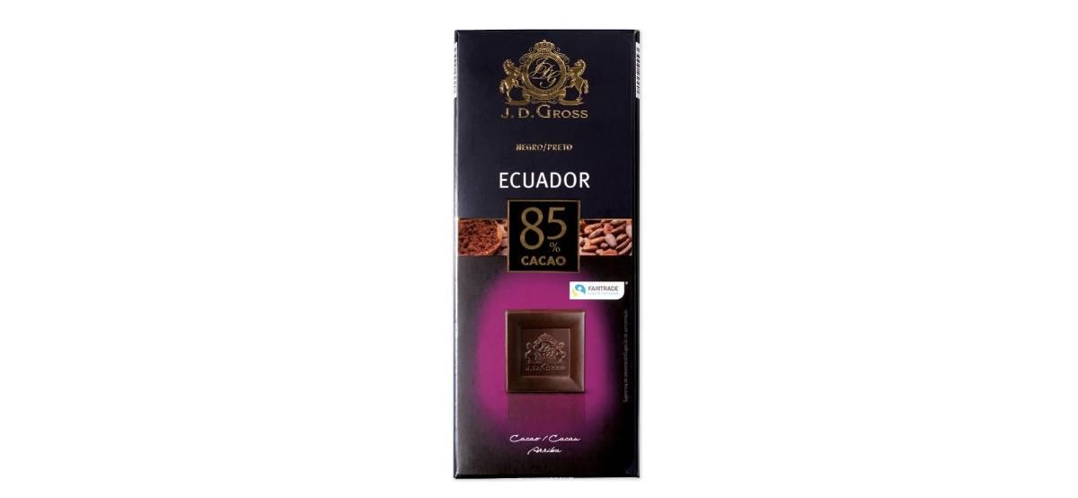 chocolate 85 cacao de Lidl